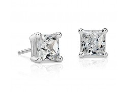 2 ct. tw Princess-Cut Diamond Stud Earrings