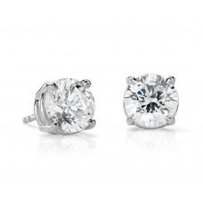 4 Carat Diamond Stud Earrings